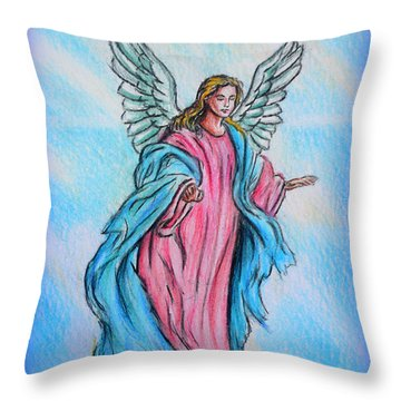 Angel Throw Pillow by Andrew Read