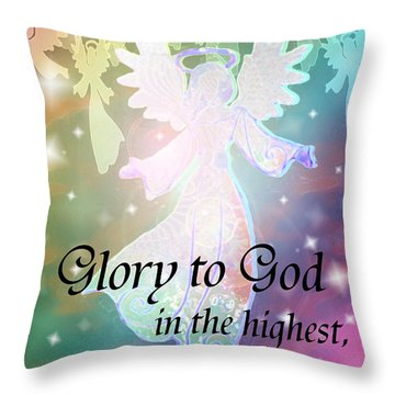 Angel Announcement Throw Pillow