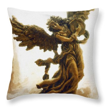 Angel Art - Impressionistic Dreamy Surreal Angel Art  Throw Pillow