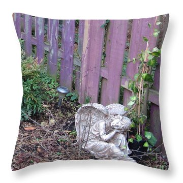 Angel Autumn Throw Pillow by Marlene Rose Besso