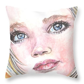 Angel Baby Throw Pillow