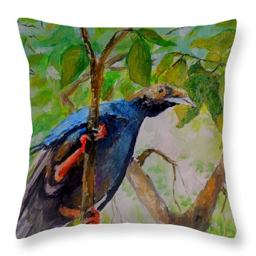 Angel Bird Of  North Moluccas Throw Pillow by Jason Sentuf