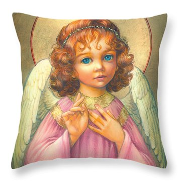 Angel Child Throw Pillow by Zorina Baldescu