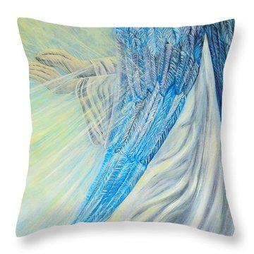 Angel Divine Throw Pillow by Caroline Street