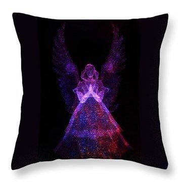Angel Dots Throw Pillow
