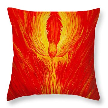 Angel Fire Throw Pillow