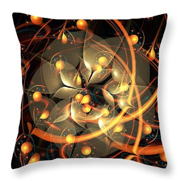 Angel Flower Throw Pillow by Anastasiya Malakhova