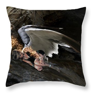 Angel- Give Your Worries To The Father Throw Pillow