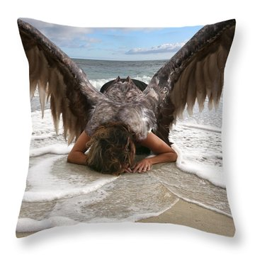 Angel- I Feel Your Sorrow  Throw Pillow