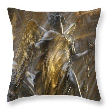 Angel In Motion Throw Pillow