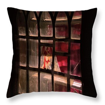 Angel In The Window Throw Pillow by Tommytechno Sweden