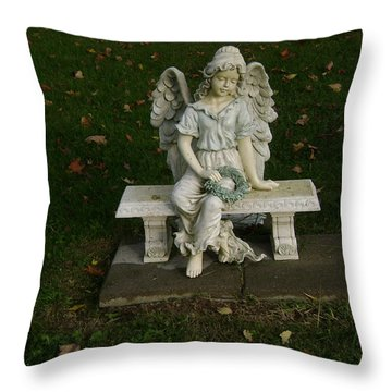 The Angel Is Watching Over Throw Pillow