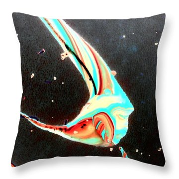 Throw Pillow featuring the painting Angel by Jacqueline McReynolds