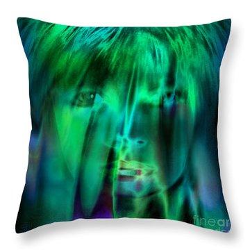 Angel Kiss Throw Pillow