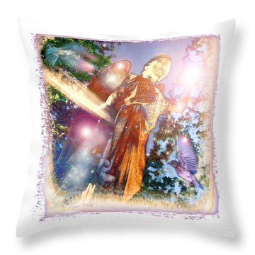 Throw Pillow featuring the photograph Angel Light by Marie Hicks