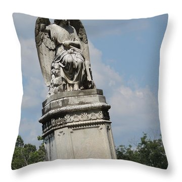 Angel Made From Stone Throw Pillow by Aaron Martens