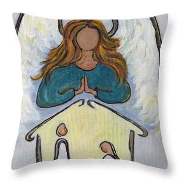 Angel - Messenger Of Joy Throw Pillow