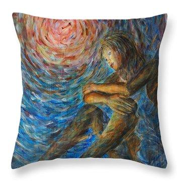 Angel Moon I Throw Pillow