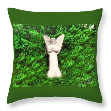 Throw Pillow featuring the photograph Angel My Gaurdian by Becky Lupe