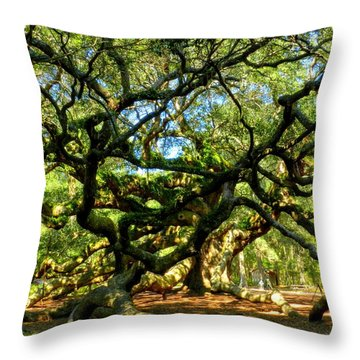 Angel Oak 006 Throw Pillow by Lance Vaughn