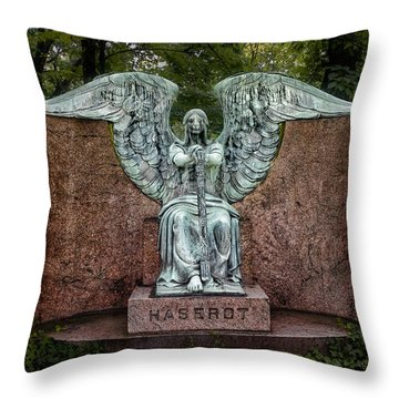 Angel Of Death Lake View Cemetery Throw Pillow