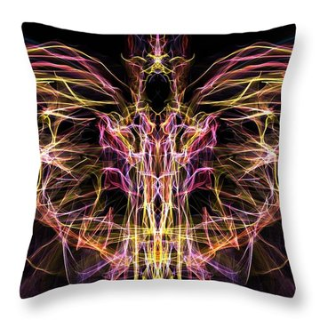 Angel Of Death Throw Pillow by Lilia D