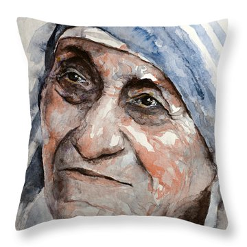 Angel Of God Throw Pillow by Laur Iduc