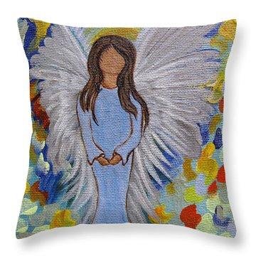 Angel Of Devotion Throw Pillow by Ella Kaye Dickey