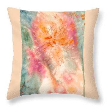 Angel Of Light Throw Pillow