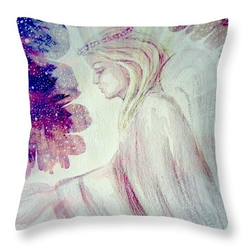Angel Of Mercy 2 Throw Pillow by Leanne Seymour