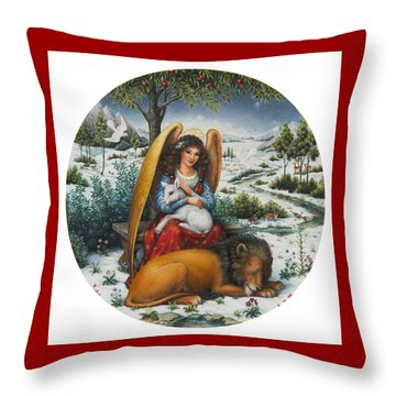 Angel Of Peace Throw Pillow