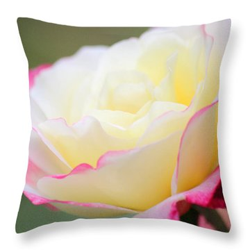 Angel Of Roses Throw Pillow by The Art Of Marilyn Ridoutt-Greene