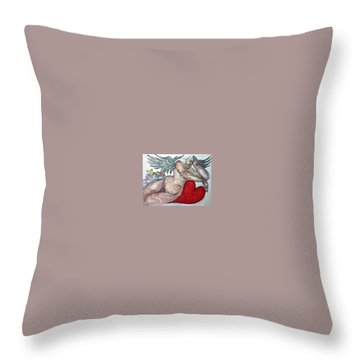 Angel Of Serenity Throw Pillow by Suzanne Macdonald