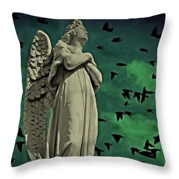 Angel Of Stone Throw Pillow