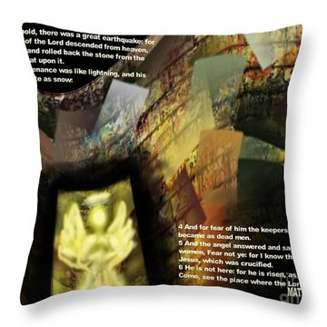 Angel Of The Lord Throw Pillow by Wayne Cantrell