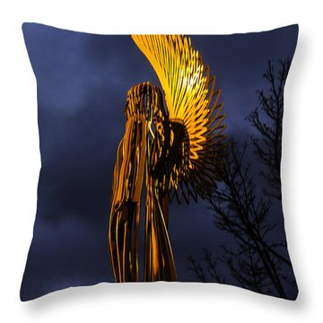 Angel Of The Morning Throw Pillow by Steve Purnell