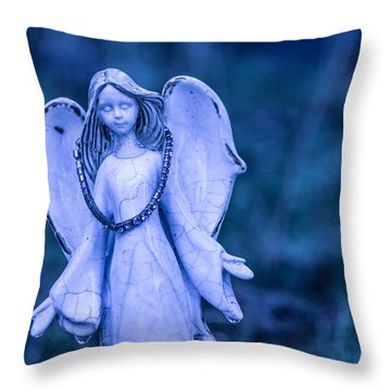 Angel Of The Rain Throw Pillow