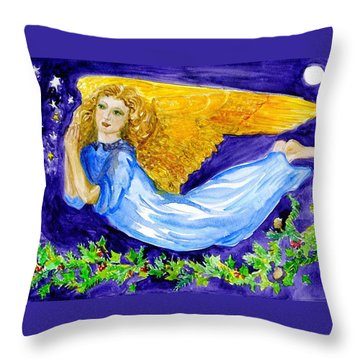 Angel Of The Skies Throw Pillow