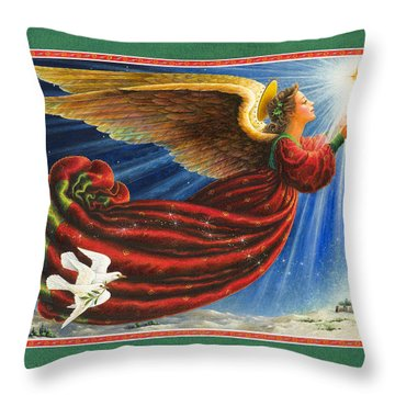 Angel Of The Star Throw Pillow