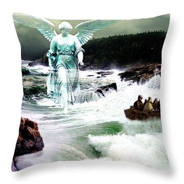 Angel Of The Storm  Throw Pillow by Lianne Schneider