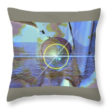 Angel Of The Water Throw Pillow by Luke Galutia