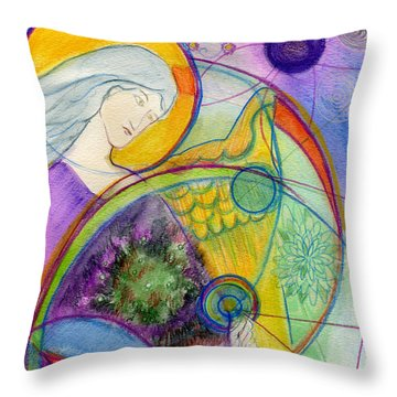 Angel Of The Wheels Of Time Throw Pillow
