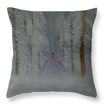 Angel Of Winters Past Throw Pillow