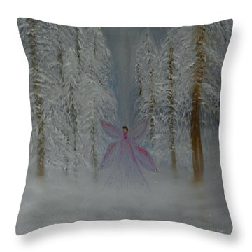 Angel Of Winters Past Throw Pillow by Sherry Flaker