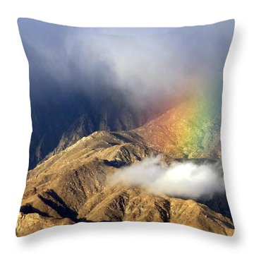 Angel On The Mountain  Throw Pillow by Patrick Morgan