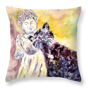 Angel Or Demon Throw Pillow