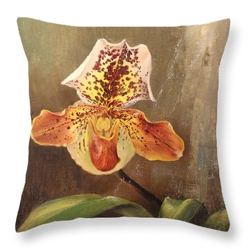 Angel Orchid Throw Pillow