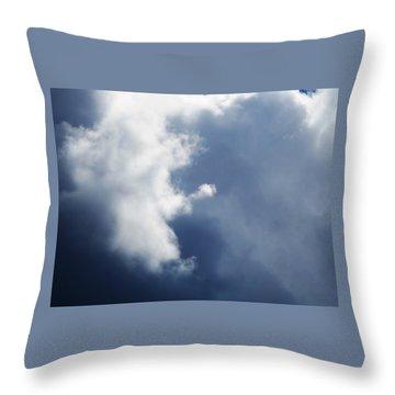 Cloud Angel Kneeling In Prayer Throw Pillow by Belinda Lee