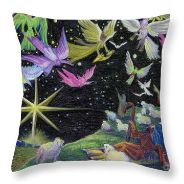 Angel Skies Throw Pillow