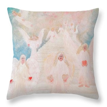 Angel Stairway Throw Pillow